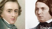 Bild 3: Frederic Chopin und Robert Schumann (Foto: ullstein-bild, Montage: DW)
