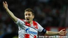 27.08.2019 *** BELGRADE, SERBIA - AUGUST 27: Marko Marin of Crvena Zvezda reacts during the UEFA Champions League Play Off Second Leg match between Crvena Zvezda and Young Boys at stadium Rajko Mitic on August 27, 2019 in Belgrade, Serbia. (Photo by Srdjan Stevanovic/Getty Images)