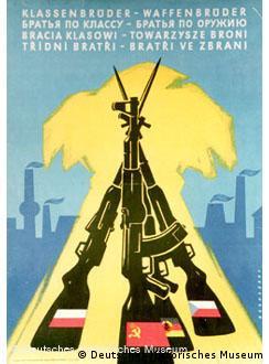 Propaganda da aliança militar do Leste na ex-Alemanha Oriental
