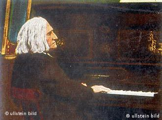 Undated portrait of Franz Liszt at the piano