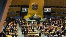 USA New York | UN Generalversammlung - Schweigeminute