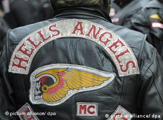 A Hells Angels' jacket seen from the back