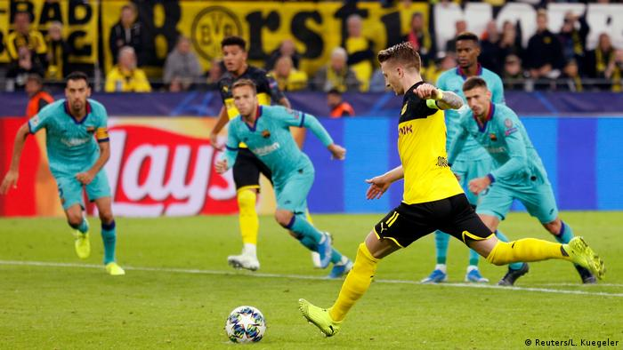 Champions League: Reus penalty miss costs dominant Dortmund win against Barcelona