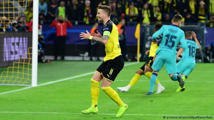 برشلونة ينجو من فخ دورتموند في دوري أبطال أوروبا