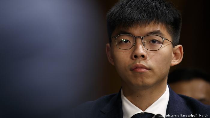 Hongkong-Aktivisten Joshua Wong und Denise Ho vor dem US-amerikanischen Kongress