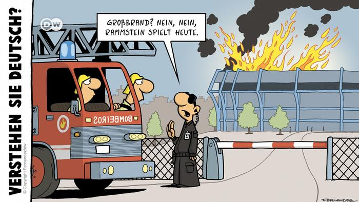Euromaxx Comics von Fernandez Verstehen Sie Deutsch? Rammstein DEUTSCH