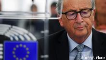 September 18, 2019*** European Commission President Jean-Claude Juncker attends a debate on Brexit at the European Parliament in Strasbourg, northeastern France on September 18, 2019. (Photo by FREDERICK FLORIN / AFP)
