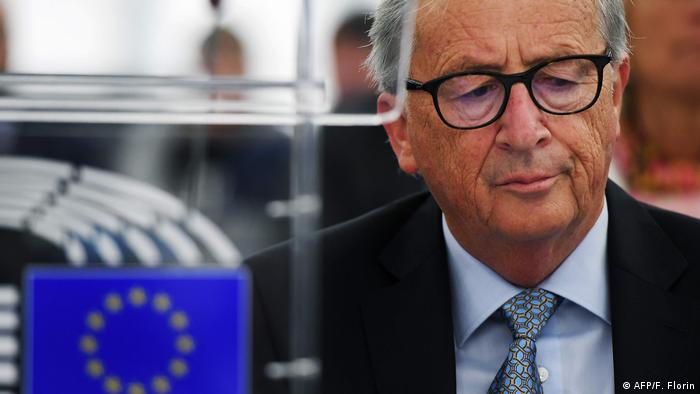 EU Commission President Jean-Claude Juncker in the European Parliament on Wednesday