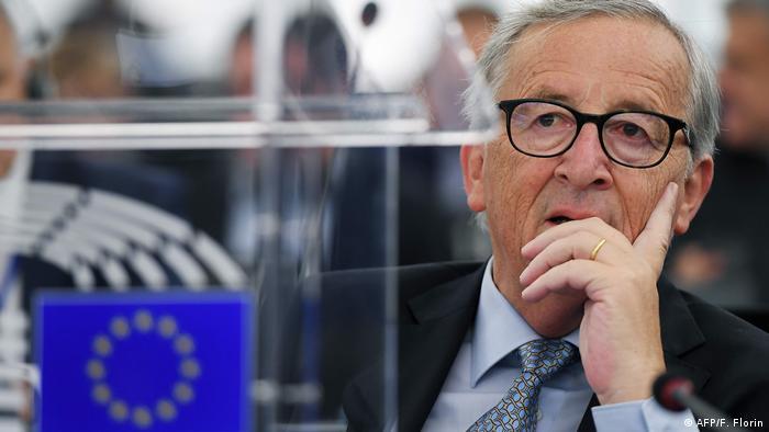 Frankreich Jean-Claude Juncker im EU-Parlament (AFP/F. Florin)