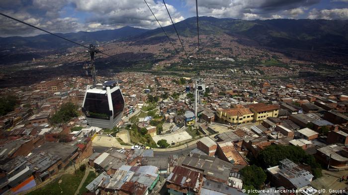 View over the Barrios Pobre of Medellin