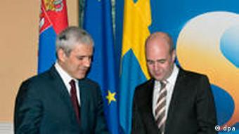 Boris Tadic und Fredrik Reinfeldt