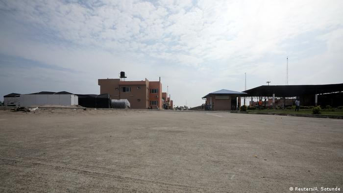 Customs buldings in Seme on the Nigerian border to Benin