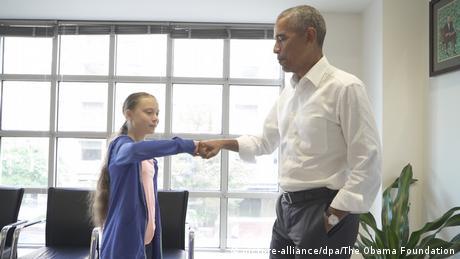 Greta Thunberg and Barack Obama (picture-alliance/dpa/The Obama Foundation)