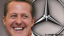 Symbolbild Michael Schumacher Comeback bei Mercedes. 23. Dezember 2009. DW-Grafik: Per Sander 2009_12_23_schumi_comeback.psd