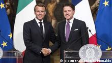 Italien: Giuseppe Conte und Emmanuel Macron in Rom