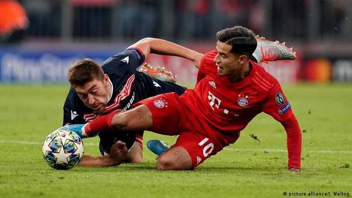 Champions League: Philippe Coutinho finding his feet as Bayern defeat Red Star