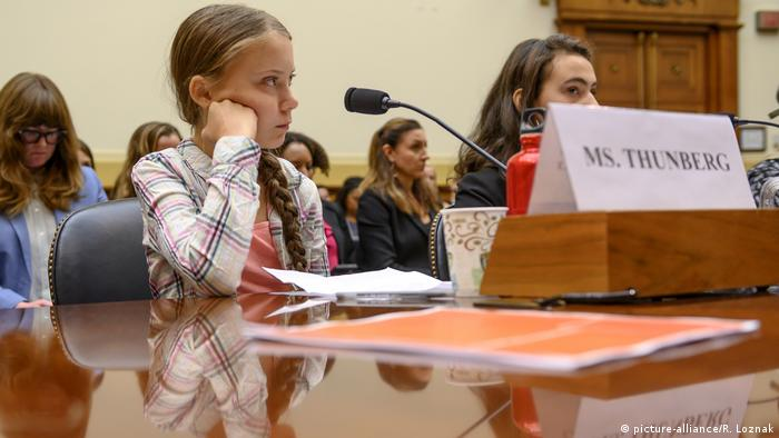 Greta Thunberg testifies at a US House Foreign Affairs Committee hearing in Washington D.C.