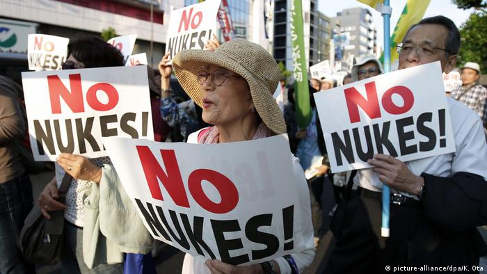 Protesters take part in an anti-nuclear power demonstration in Tokyo