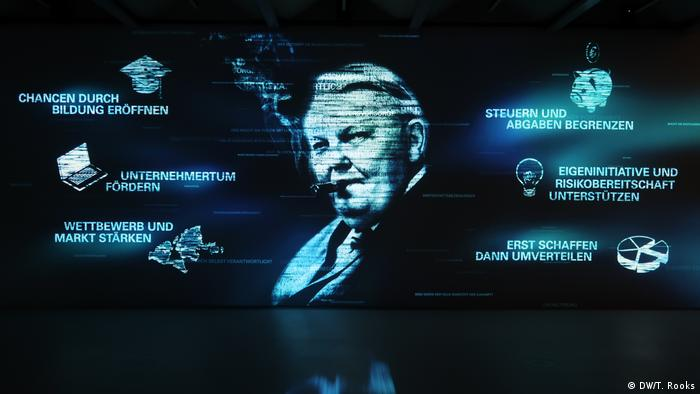 Some of Erhard's ideas are shown in the Room of the Future: Limit taxes; create before you distribute; support risk-taking, personal initiative and entrepreneurship; strengthen competition and markets; create chances through education