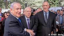 Israel Netanjahu Rivlin und Gantz