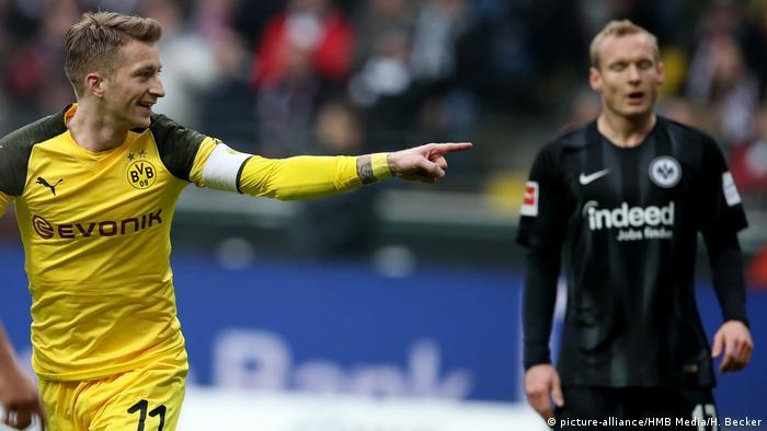 Fussball - 1. Bundesliga - Eintracht Frankfurt - Borussia Dortmund | Marco Reus und Sebastian Rode