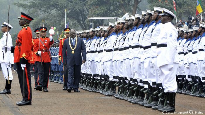 Präsident Mwai Kibaki bei den Feierlichkeiten in Nairobi 2010