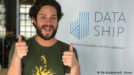 Juan Pablo, also from Colombia, are collecting data on gender gaps in the public sector in their home country and will visualize it for a broader audience.