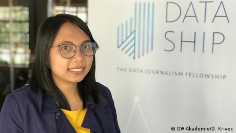 In her project, Wan asks How Jakarta Becomes Jakarta. She is mapping the development of her home town and shows the growth of Jakarta's population as well the history of its flooding.