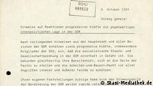 BDtU Stasi-Mediathek, Dokument | Innenpolitische Lage in der DDR