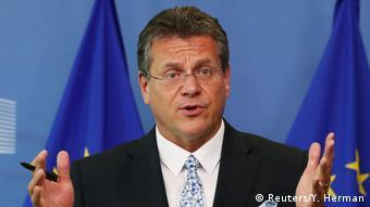 Марош Шефчович досі представляв ЄС на тристоронніх газових переговорах