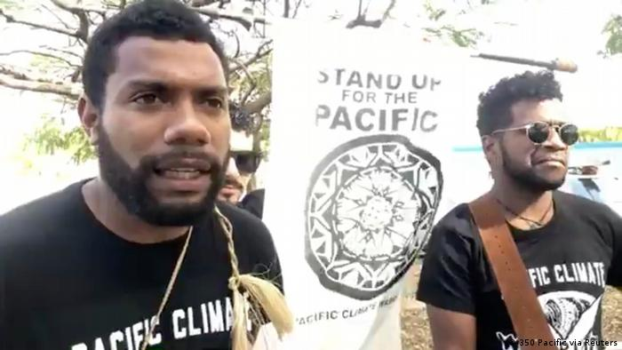 Protestors in New Caledonia