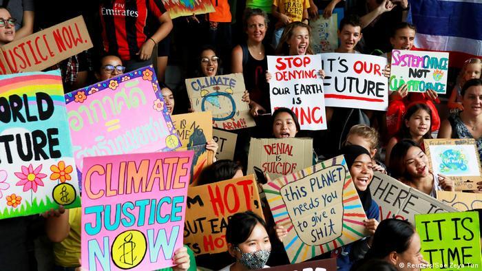 Участники акции протеста в Таиланде