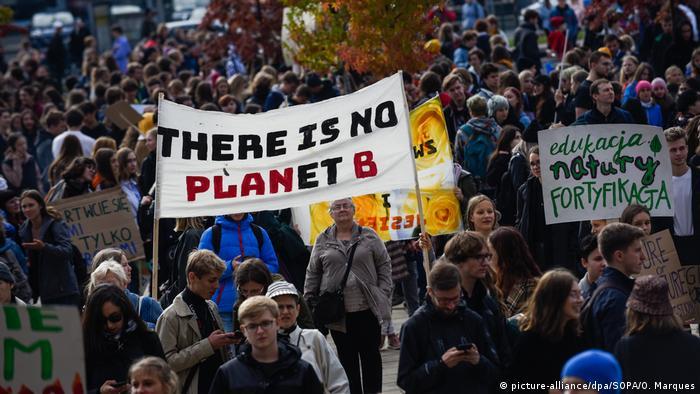 Акция а защиту климата в Лондоне