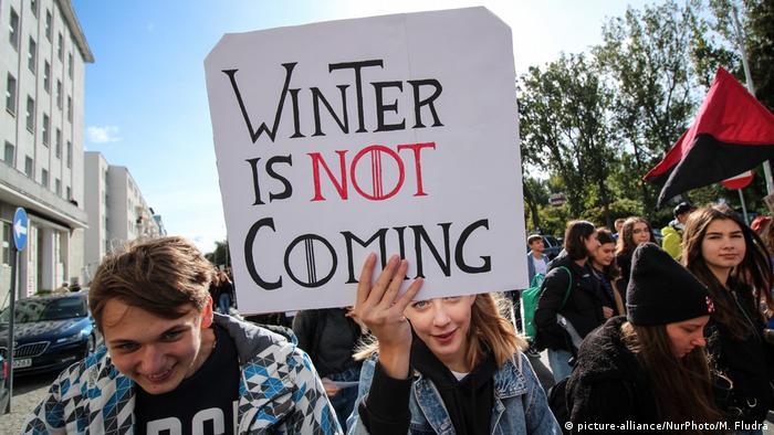 BG FFF weltweit   Polen   Klimastreik   Global Strike 4 Climate   Gdynia (picture-alliance/NurPhoto/M. Fludra)