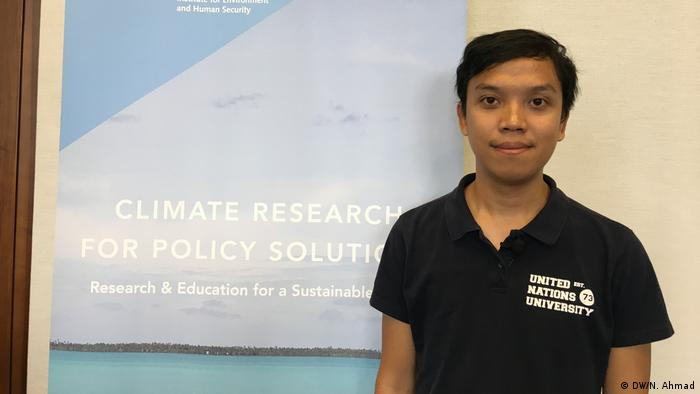 Bonn | Fikri Angga Reksa, indonesischer Student der United Nations University (DW/N. Ahmad)
