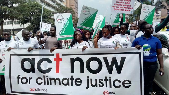 Students protesting at the Global Strike 4 Climate in Kampala, Uganda in 2019