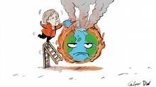 Karikatur Céline Rübbelke zum Klimakabinett