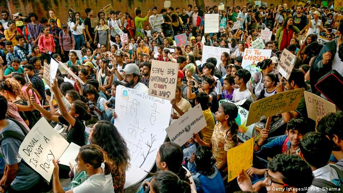 Indien Mumbai | Klimaproteste - Fridays for Future (Getty Images/AFP/M. Sharma)