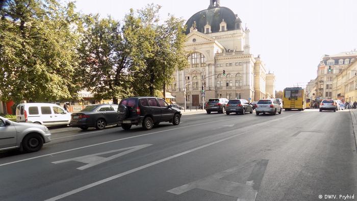 Ukraine Die Straßen von Lviv