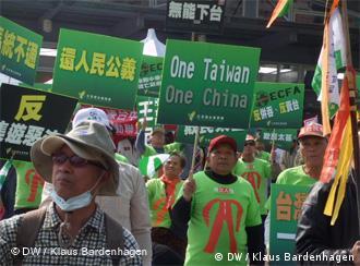 Grün ist die Farbe der Unahängigkeits-Befürworter.
