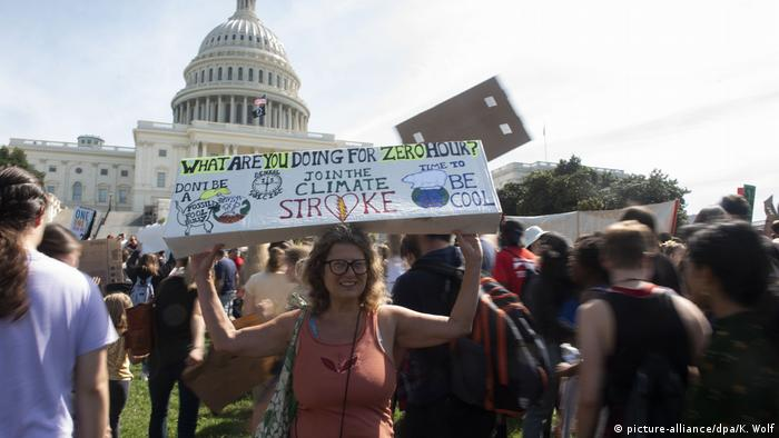 USA Globaler Klimastreik – Washington (picture-alliance/dpa/K. Wolf)