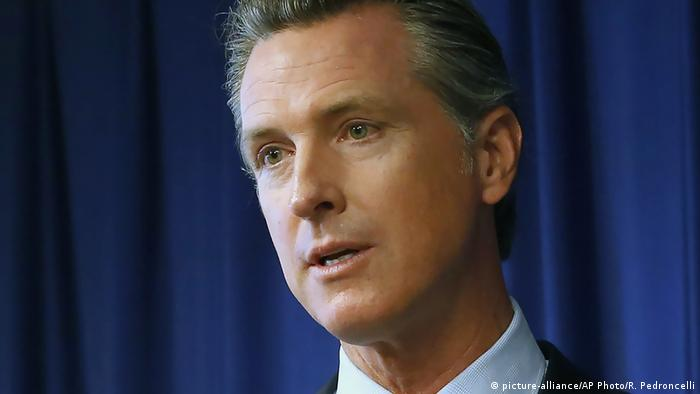 USA Kalifornien Gouverneur Gavin Newsom (picture-alliance/AP Photo/R. Pedroncelli)