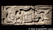 18.09.2019 An item of pre-Columbian artworks to be auctioned is displayed at the Drouot auction house in Paris on September 18, 2019. - The Mexican government called for an auction of pre-Columbian art in Paris to be halted, insisting that 95 works going under the hammer are a part of its cultural heritage. (Photo by Philippe LOPEZ / AFP) (Photo credit should read PHILIPPE LOPEZ/AFP/Getty Images)