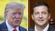 Kombobild Donald Trump und Wolodymyr Selenskyj