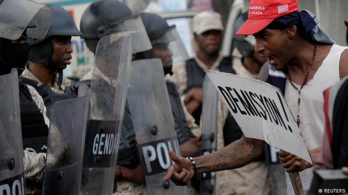 Haiti Proteste wegen Kraftstoffmangel und gegen die Regierung