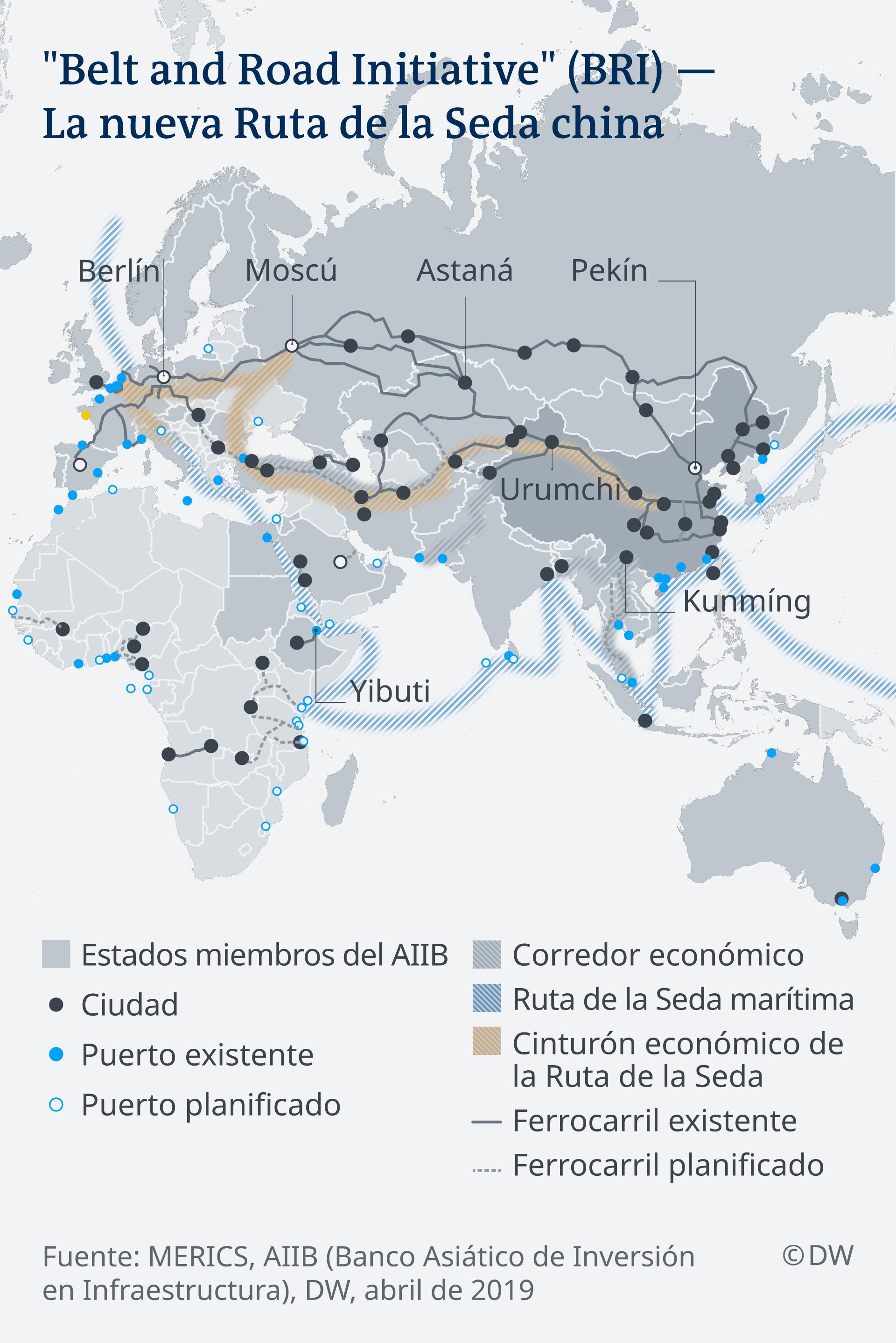 Infografik China's new Silk Road ES
