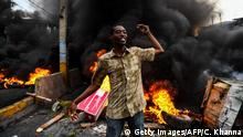 Haiti Port-au-Prince | Anti-Regierungsproteste & Ausschreitungen (Getty Images/AFP/C. Khanna)