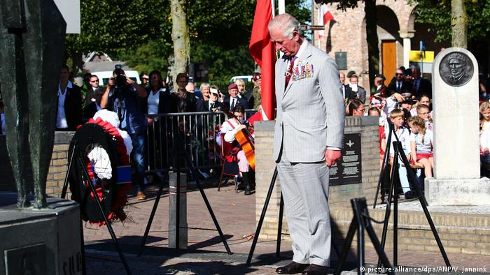 Prince Charles at a ceremony for Operation Market Garden