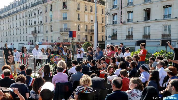 Inauguração de jardim batizado com o nome de Marielle em Paris, em setembro de 2019