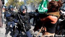 قنابل الغاز ومهاجمة الشرطة خلال مظاهرة في باريس (سبتمبر/ أيلول 2019)